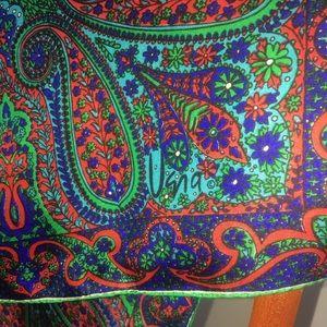 Vera Neumann Accessories - Vera Neumann Vintage Paisley Floral Silk Scarf